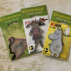 Pippi Longstocking, Moomin, Moose, Reflector, Keychain, Backpack