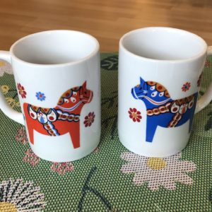 Dala Horse mugs, coffee, tea, gift