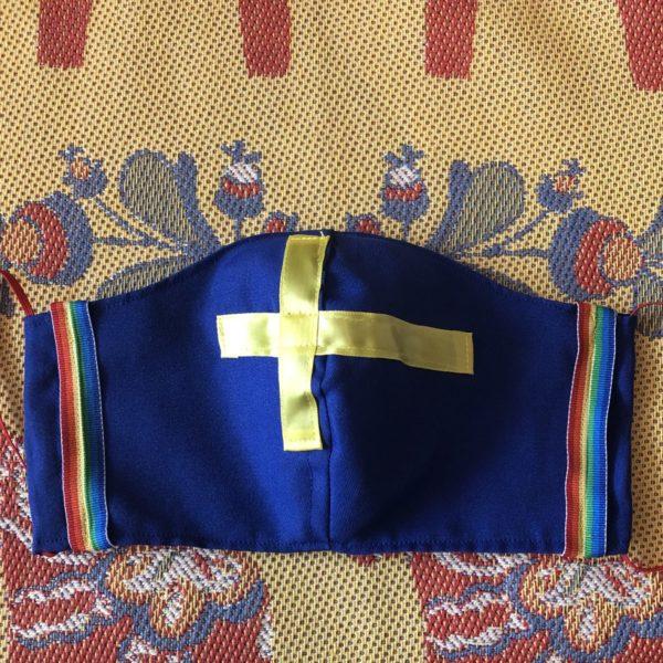 Swedish Flag Rainbow Mask